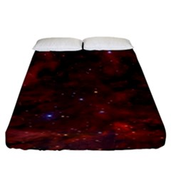 Abstract Fantasy Color Colorful Fitted Sheet (king Size)