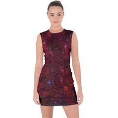 Abstract Fantasy Color Colorful Lace Up Front Bodycon Dress