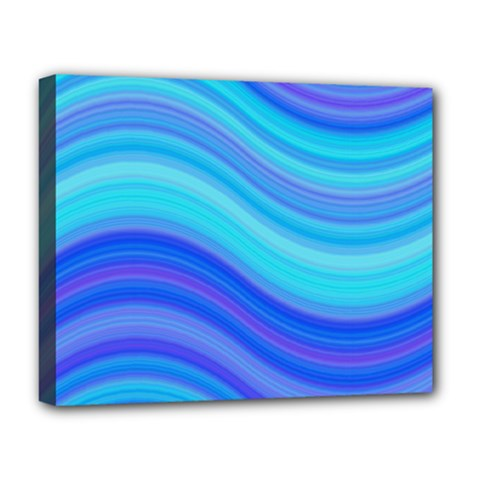 Blue Background Water Design Wave Deluxe Canvas 20  X 16   by BangZart
