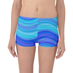 Blue Background Water Design Wave Boyleg Bikini Bottoms