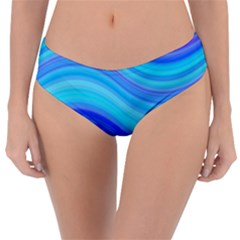 Blue Background Water Design Wave Reversible Classic Bikini Bottoms