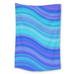 Blue Background Water Design Wave Large Tapestry
