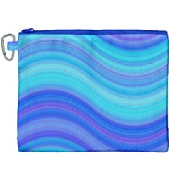 Blue Background Water Design Wave Canvas Cosmetic Bag (xxxl)