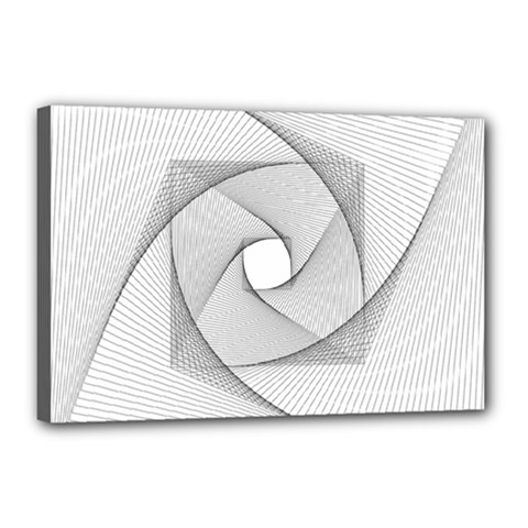 Rotation Rotated Spiral Swirl Canvas 18  X 12  by BangZart