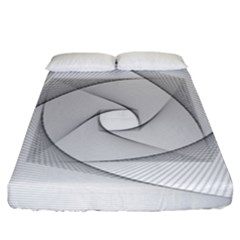 Rotation Rotated Spiral Swirl Fitted Sheet (king Size) by BangZart