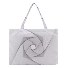 Rotation Rotated Spiral Swirl Medium Tote Bag