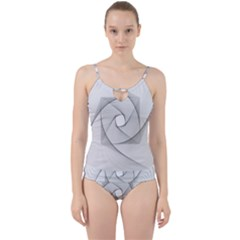 Rotation Rotated Spiral Swirl Cut Out Top Tankini Set