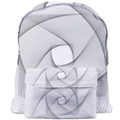 Rotation Rotated Spiral Swirl Giant Full Print Backpack by BangZart