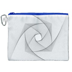 Rotation Rotated Spiral Swirl Canvas Cosmetic Bag (xxl)