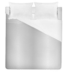 Monochrome Curve Line Pattern Wave Duvet Cover (queen Size)