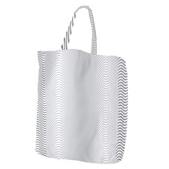 Monochrome Curve Line Pattern Wave Giant Grocery Zipper Tote