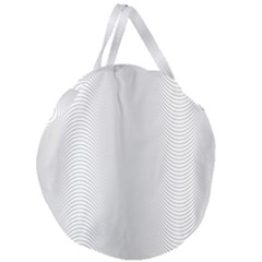 Monochrome Curve Line Pattern Wave Giant Round Zipper Tote