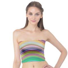 Wave Background Happy Design Tube Top