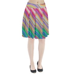 Wave Background Happy Design Pleated Skirt