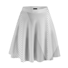 Background Pattern Stripe High Waist Skirt by BangZart