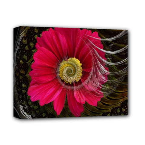 Fantasy Flower Fractal Blossom Deluxe Canvas 14  X 11