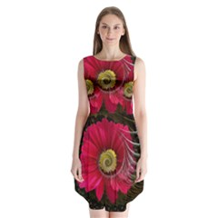 Fantasy Flower Fractal Blossom Sleeveless Chiffon Dress
