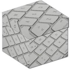 Keyboard Letters Key Print White Storage Stool 12   by BangZart