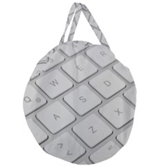 Keyboard Letters Key Print White Giant Round Zipper Tote by BangZart