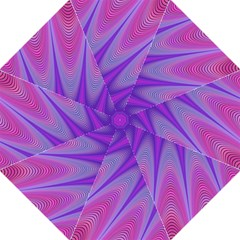 Purple Star Sun Sunshine Fractal Folding Umbrellas