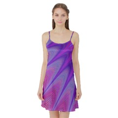 Purple Star Sun Sunshine Fractal Satin Night Slip