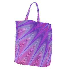 Purple Star Sun Sunshine Fractal Giant Grocery Zipper Tote