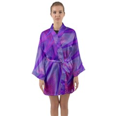 Purple Star Sun Sunshine Fractal Long Sleeve Kimono Robe