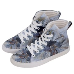 Winter Frost Ice Sheet Leaves Men s Hi-top Skate Sneakers by BangZart