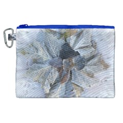 Winter Frost Ice Sheet Leaves Canvas Cosmetic Bag (xl)