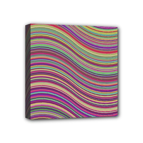 Wave Abstract Happy Background Mini Canvas 4  x 4