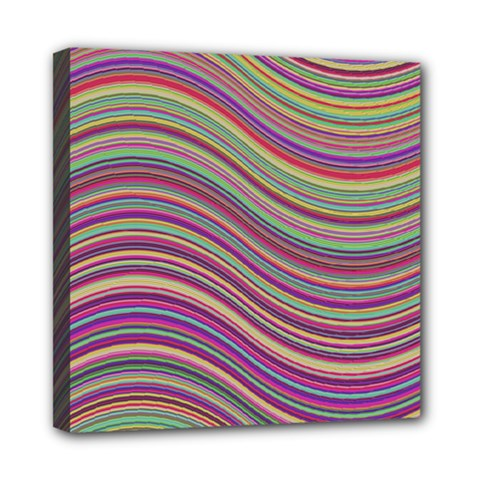 Wave Abstract Happy Background Mini Canvas 8  x 8