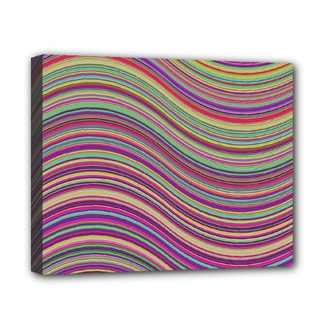 Wave Abstract Happy Background Canvas 10  x 8