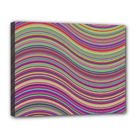 Wave Abstract Happy Background Canvas 14  x 11