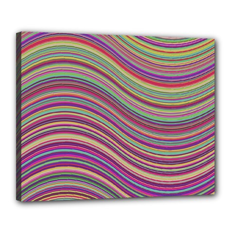 Wave Abstract Happy Background Canvas 20  x 16