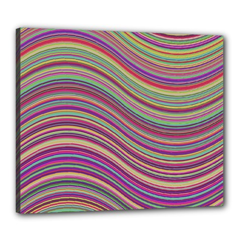 Wave Abstract Happy Background Canvas 24  x 20