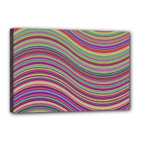 Wave Abstract Happy Background Canvas 18  x 12