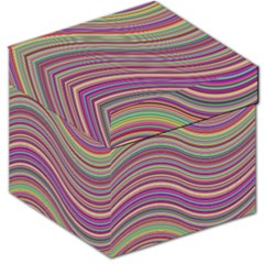 Wave Abstract Happy Background Storage Stool 12