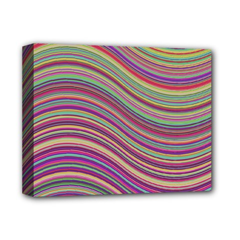 Wave Abstract Happy Background Deluxe Canvas 14  x 11