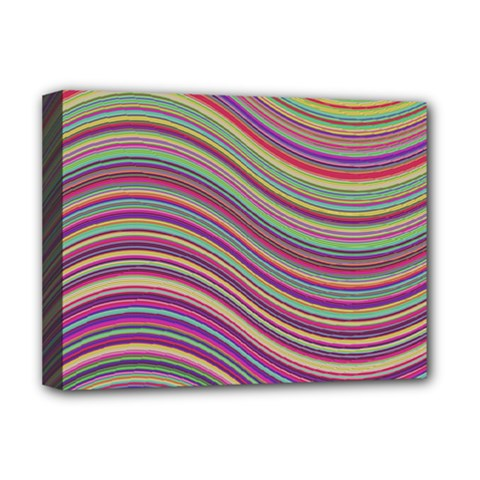 Wave Abstract Happy Background Deluxe Canvas 16  x 12