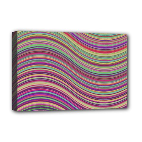 Wave Abstract Happy Background Deluxe Canvas 18  x 12