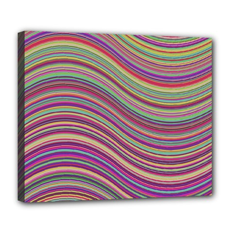 Wave Abstract Happy Background Deluxe Canvas 24  x 20