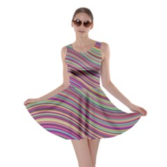 Wave Abstract Happy Background Skater Dress