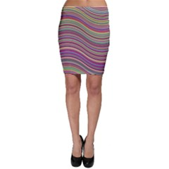 Wave Abstract Happy Background Bodycon Skirt