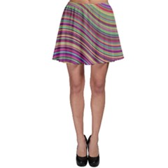 Wave Abstract Happy Background Skater Skirt