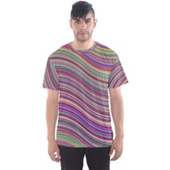 Wave Abstract Happy Background Men s Sports Mesh Tee