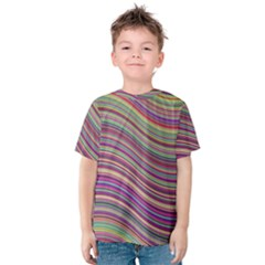 Wave Abstract Happy Background Kids  Cotton Tee