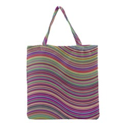 Wave Abstract Happy Background Grocery Tote Bag