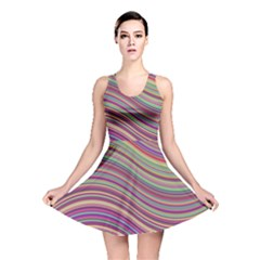 Wave Abstract Happy Background Reversible Skater Dress