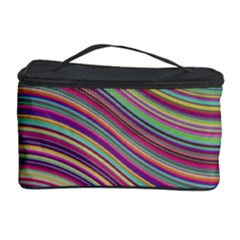 Wave Abstract Happy Background Cosmetic Storage Case