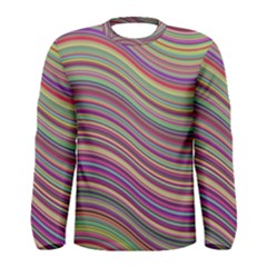 Wave Abstract Happy Background Men s Long Sleeve Tee